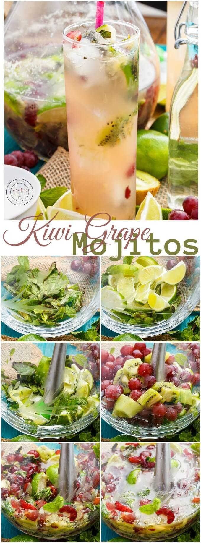 Wedding - Fresh Kiwi-Grape Mojitos