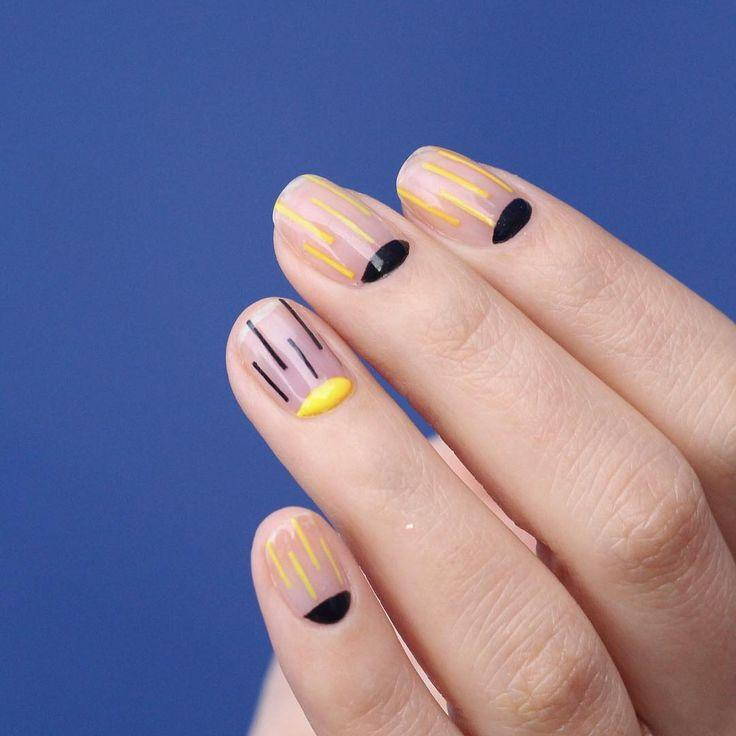 Wedding - Striped Nail Art