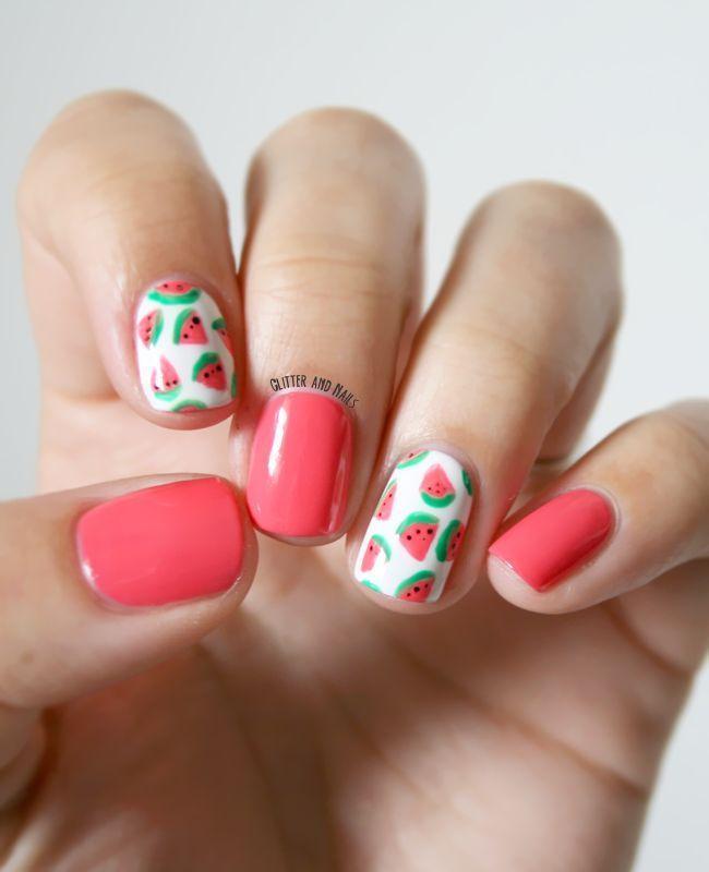 Nail Watermelon Nails 2750730 Weddbook