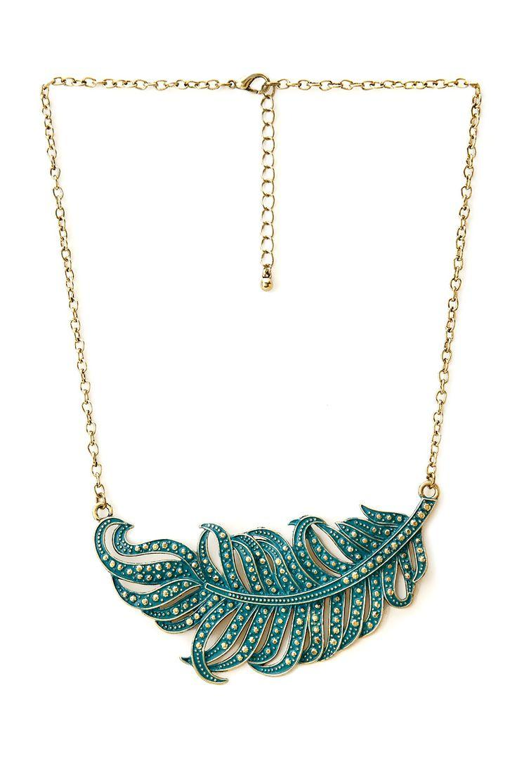 Hochzeit - Down To Earth Feather Necklace