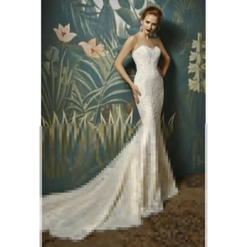 Свадьба - Enzoani Joelle by Blue by Enzoani - Taupe  Ivory  White Lace V-Back  Zip-Up Fastening Floor Wedding Dresses - Bridesmaid Dress Online Shop