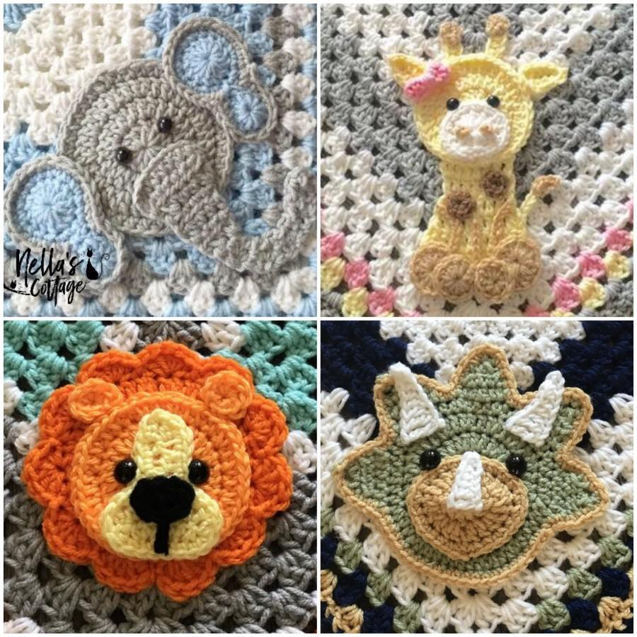 Crochet Zoo Animals Pdf Download Pattern Only Lion Elephant