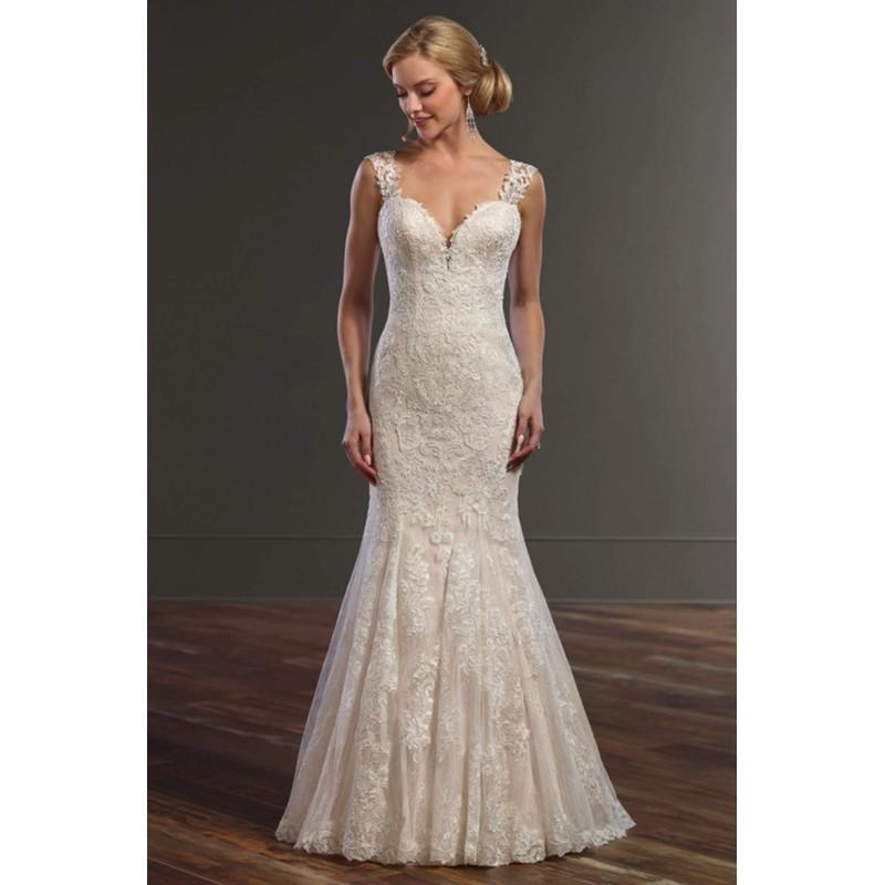 Mariage - Style 832 by Martina Liana - Ivory  White Lace Illusion back Floor Sweetheart  Straps Fit and Flare Wedding Dresses - Bridesmaid Dress Online Shop