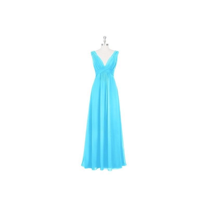 Wedding - Pool Azazie Hillary - Chiffon Floor Length V Neck V Back Dress - Cheap Gorgeous Bridesmaids Store