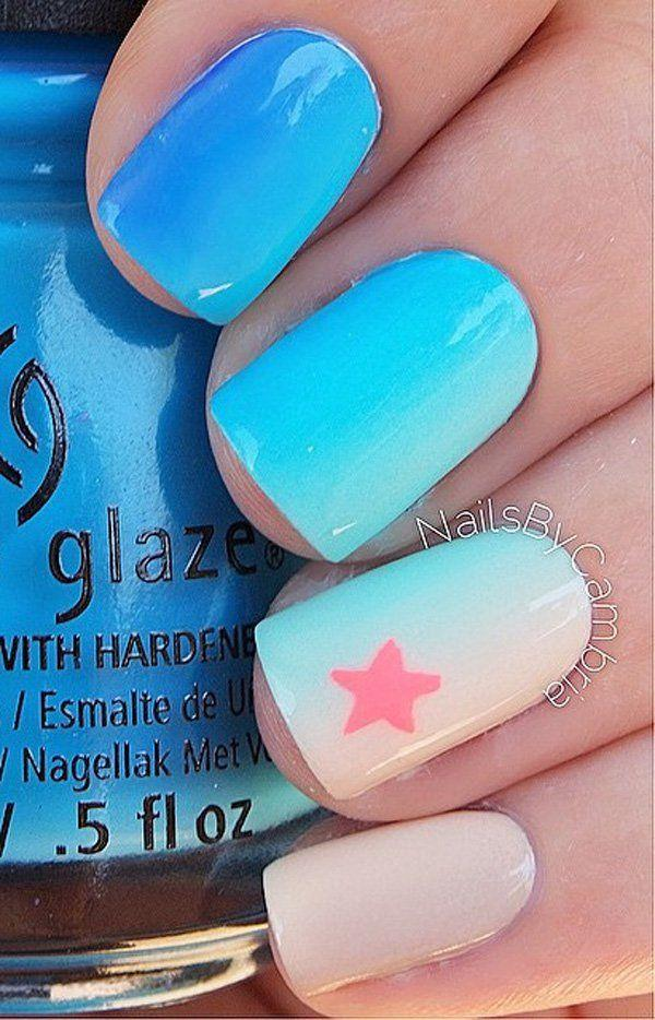 Wedding - Fifty Shads Of Blue Nail Art