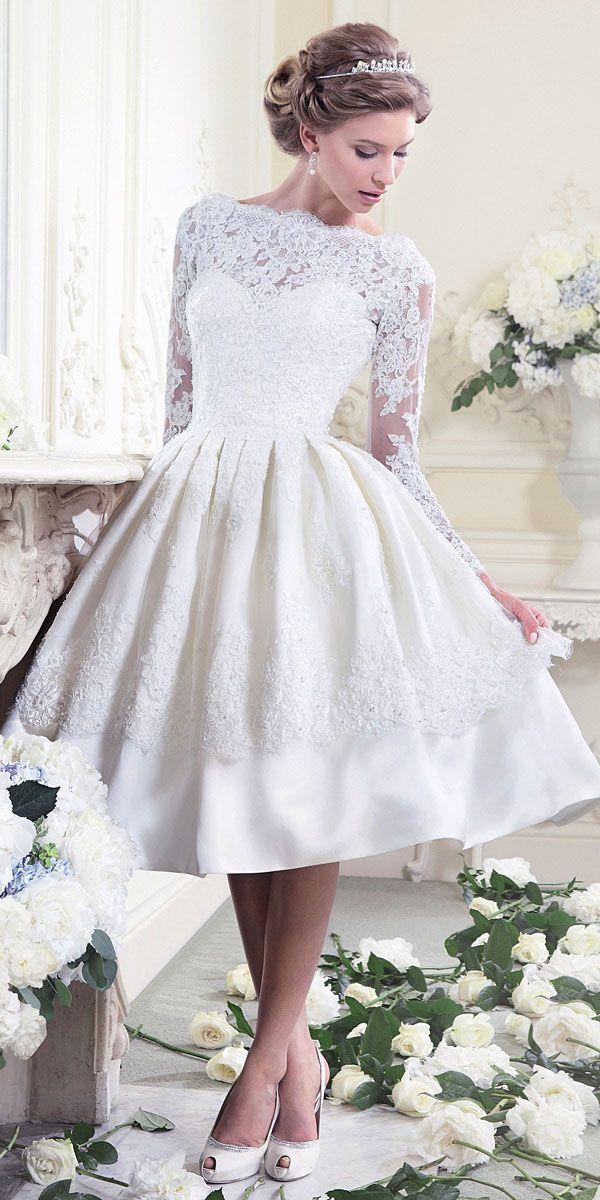Wedding - 24 Gorgeous Tea Length Wedding Dresses