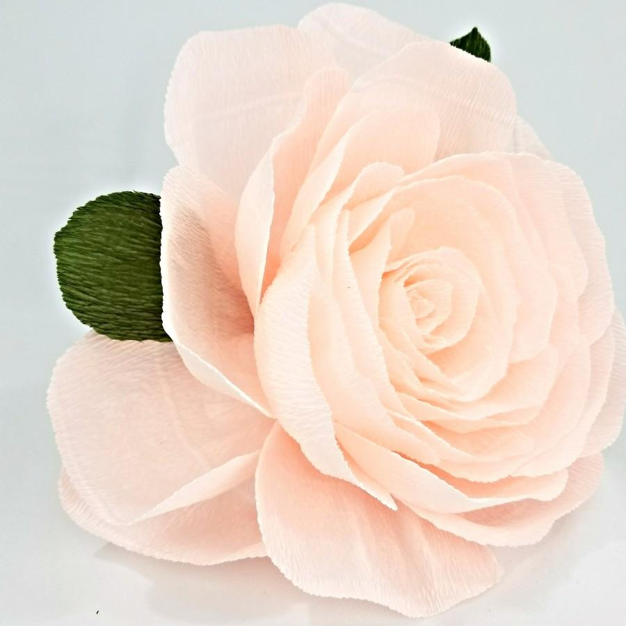 Wedding - Crepe Paper Rose - Home Wall Decor - Baby Shower Decor - Giant Roses - Kids Room Decor - Huge Paper Flowers - Floral Wall Decor - $9.95 USD