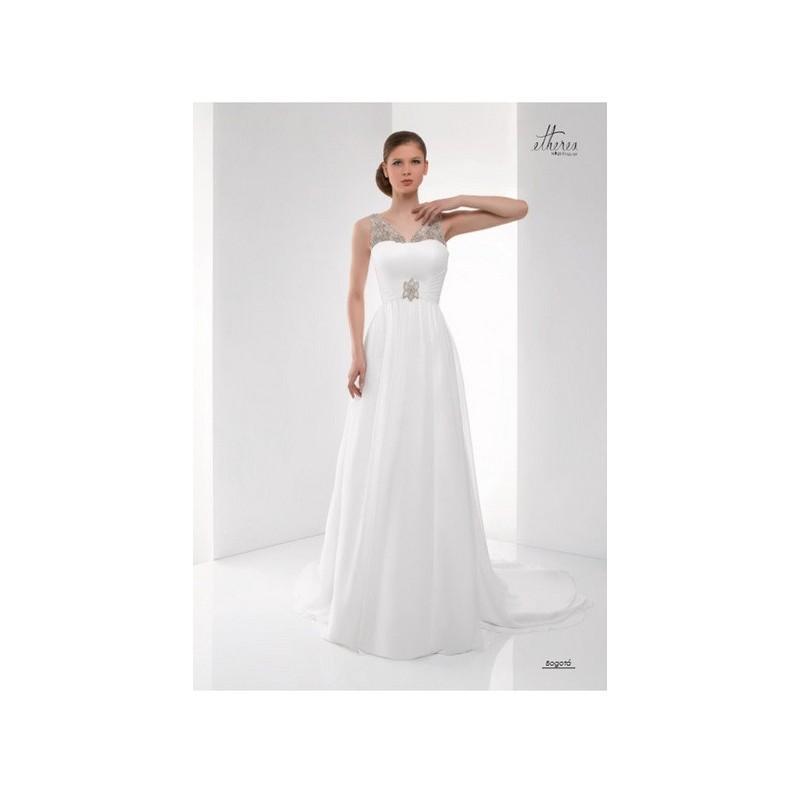 Wedding - Vestido de novia de Miquel Suay Modelo Bogotá - 2015 Evasé Tirantes Vestido - Tienda nupcial con estilo del cordón