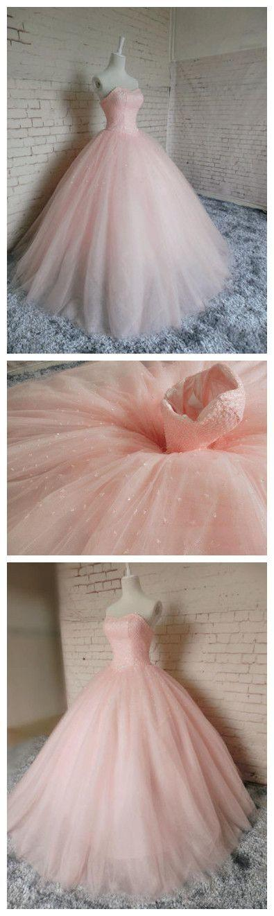 Mariage - New Pink Ball Gown Beading Prom Dress,Long Prom Dresses,Charming Prom Dresses,Evening Dress, Prom Gowns, Formal Women Dress,prom Dress From Meetdresse