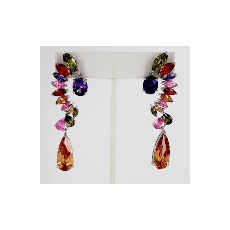 Свадьба - Helens Heart Earrings JE-E1110-S-Multi Helen's Heart Earrings - Rich Your Wedding Day