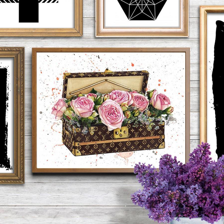 Mariage - Louis Vuitton, Louis Vuitton art, Louis Vuitton bag, Louis Vuitton print, Fashion illustration, Fashion print, Fashion art poster,Watercolor