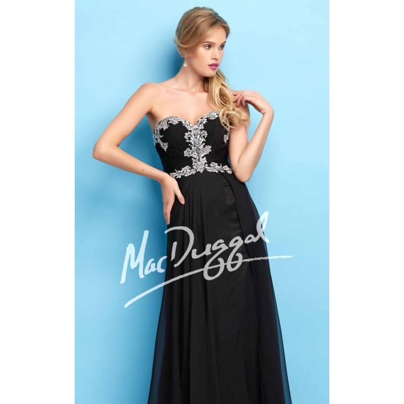 Mariage - Long Chiffon Gown by Flash by Mac Duggal 64625L - Bonny Evening Dresses Online