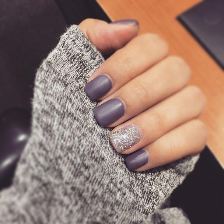 Wedding - Matte Purple Nails