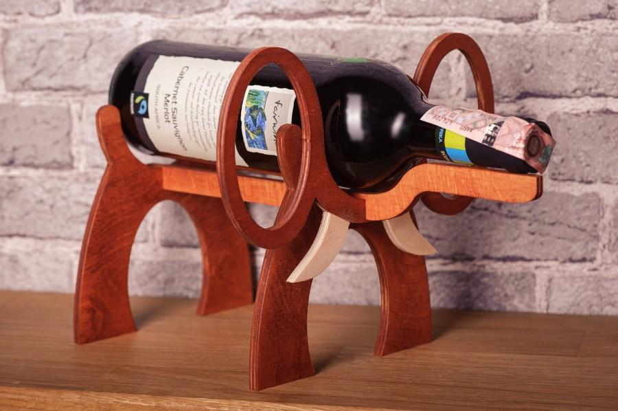 Wooden Wine Rack Elephant Standing Wine Bottle Holder Wine Case Interior  Design Wine Accessories Wine Gifts For Wine Lovers Bottle Holders