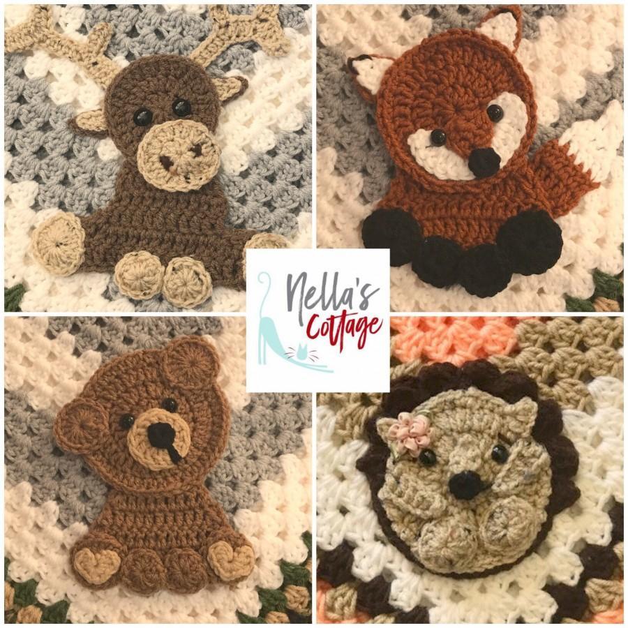Mariage - Crochet Woodland Animals - INSTANT PDF DOWNLOAD - Pattern - Woodland Pattern - Crochet - Crochet Woodland - Moose - Bear - Hedgehog - Fox