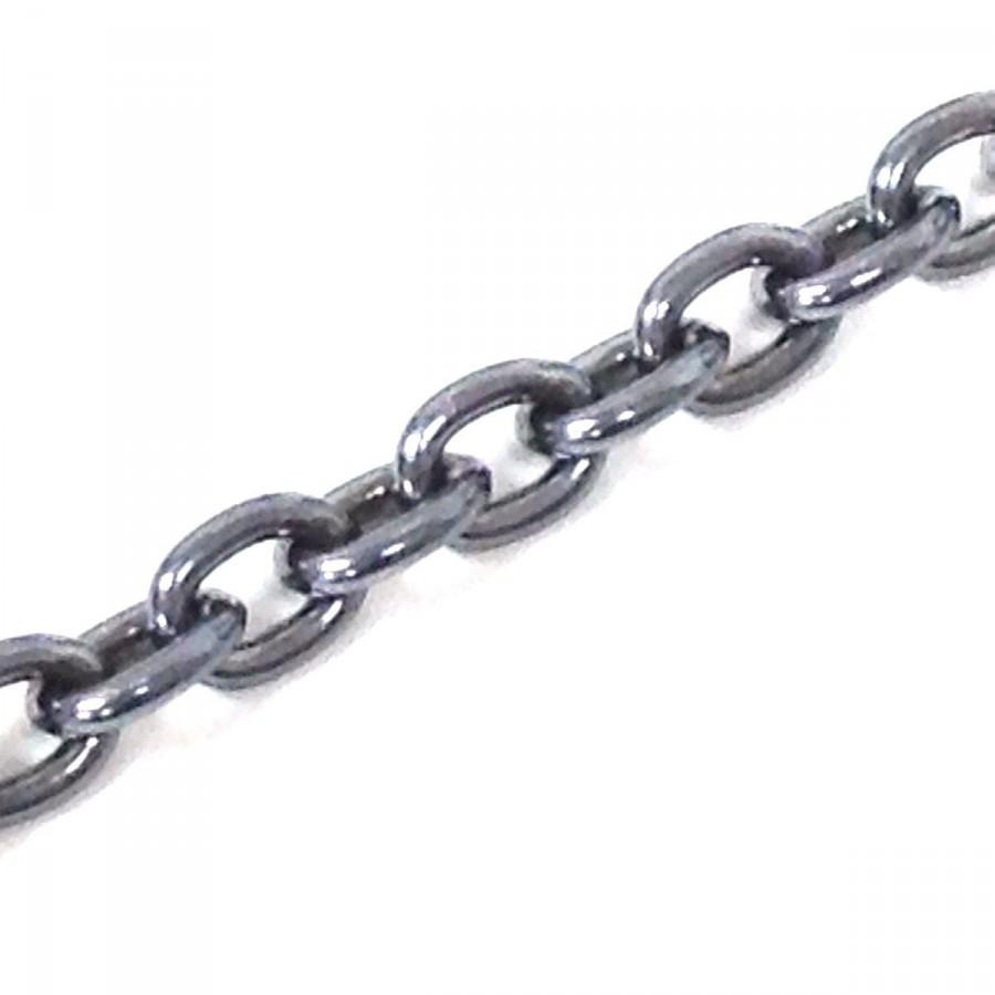 0.925 Sterling Silver Chain Oval Solid Wire Link Oxidized (Price Per ...