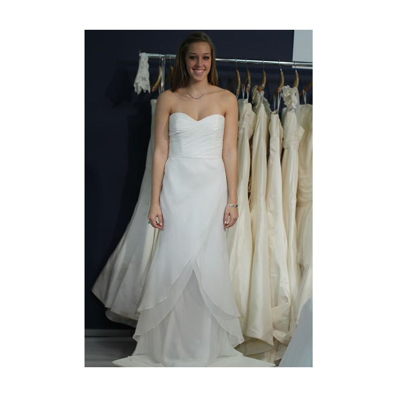 Coren moore fall 2012 strapless layered chiffon a line for Cheap wedding dress for sale