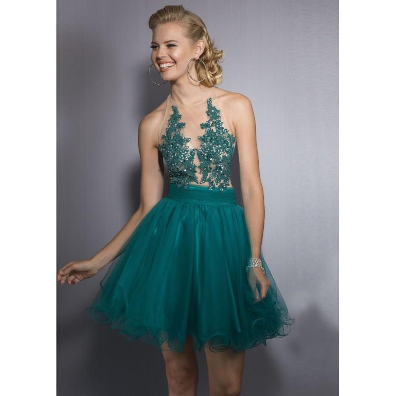 Wedding - Clarisse 2545 Illusion Cocktail Dress - 2017 Spring Trends Dresses