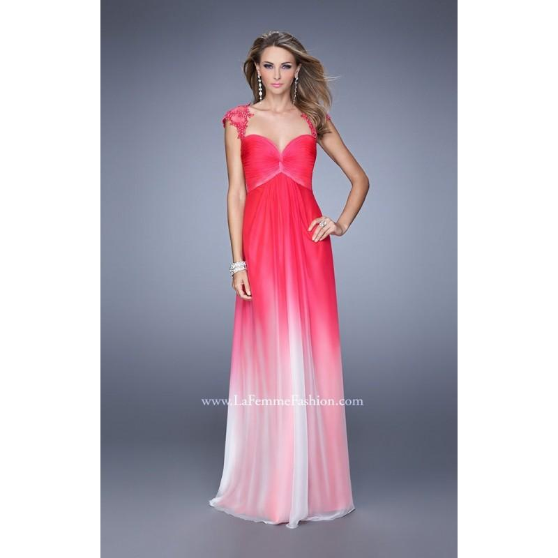 Wedding - Indigo La Femme 20444 - Chiffon Open Back Dress - Customize Your Prom Dress