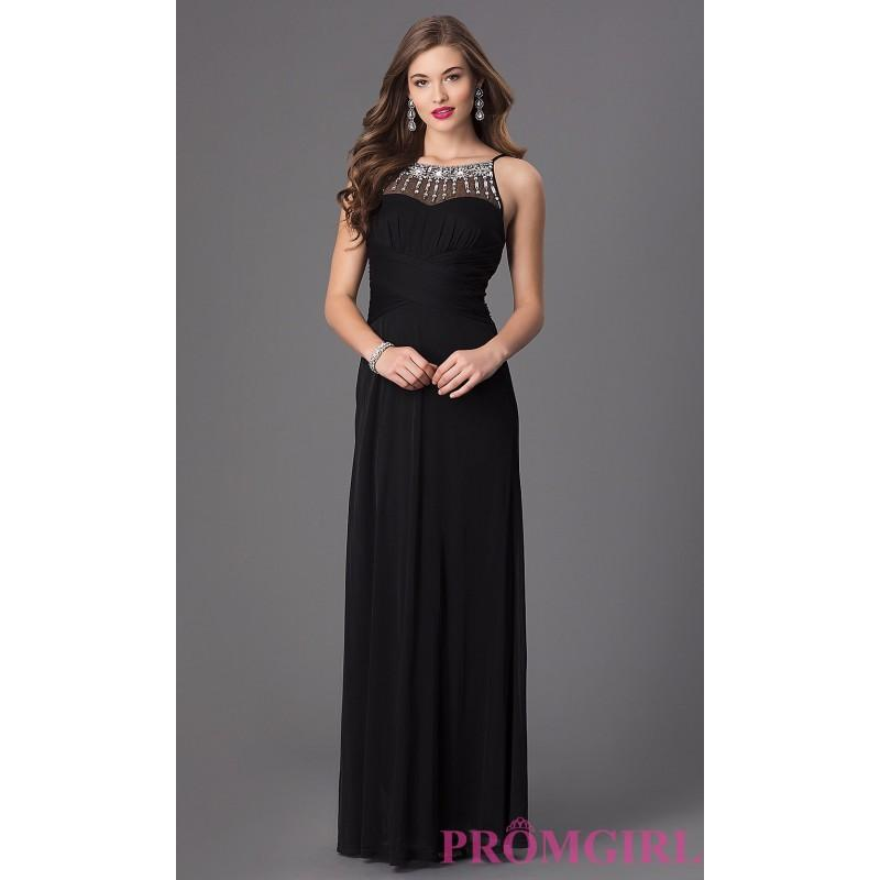 Boda - Black Long Sleeveless Prom Dress by Hailey Logan - Brand Prom Dresses