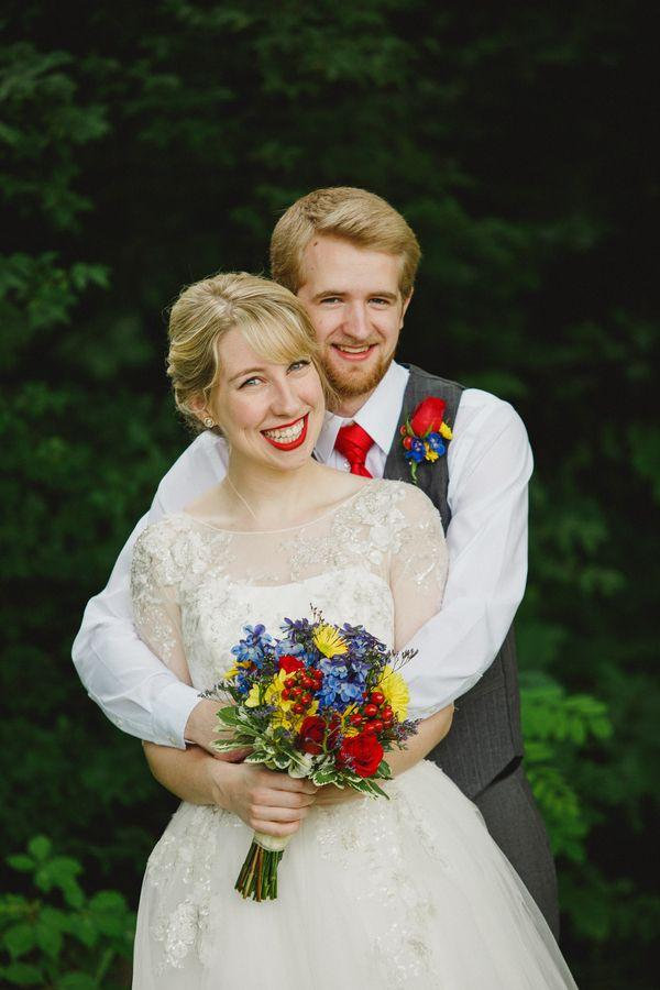 Mariage - Primary Color Wedding With A Retro Comic Book Theme