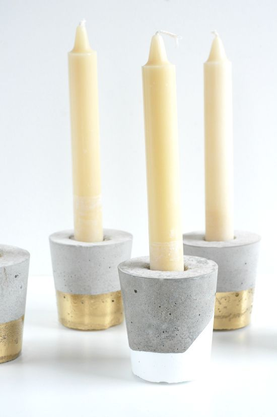 Boda - Concrete DIY Candle Holders