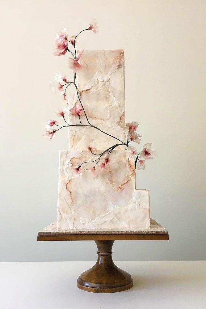 Свадьба - 24 Trendy Marble Wedding Cakes