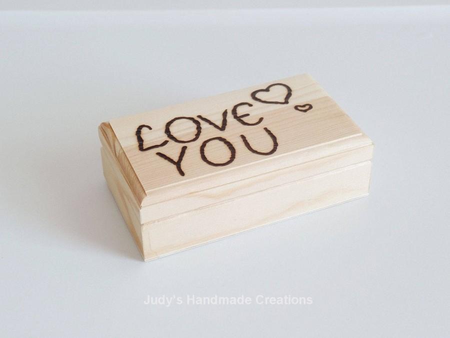 Personalized Wooden Box Custom Box Wood Gift Box Engraved Box