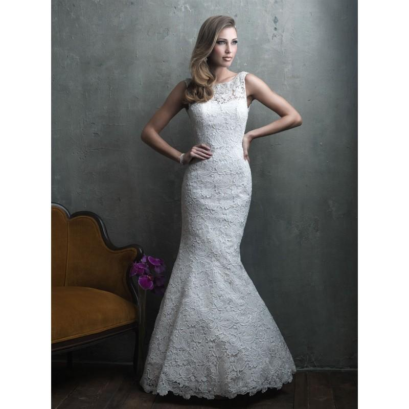 Allure Couture C302 Open Back Lace Mermaid Wedding Dress