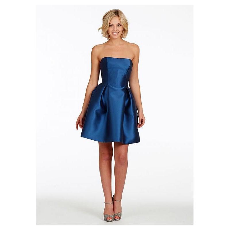 Wedding - Classical Satin Strapless Necklilne Natural Waistline Knee-length A-line Bridesmaid Dress - overpinks.com