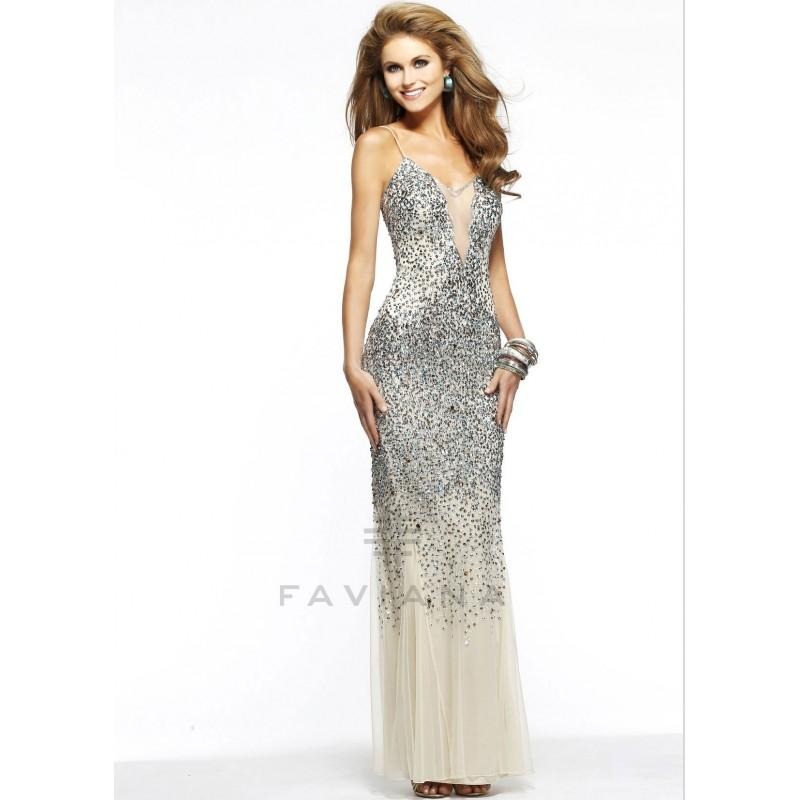 Wedding - Faviana Glamour S7377 Illusion Evening Gown - 2017 Spring Trends Dresses