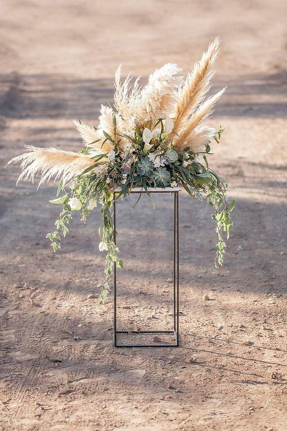 Mariage - Wedding Trend: 30 Boho Pampas Grass Wedding Ideas