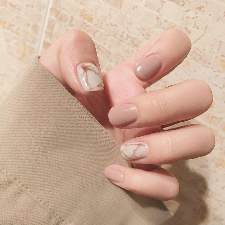 Wedding - Marble and Nude Nails