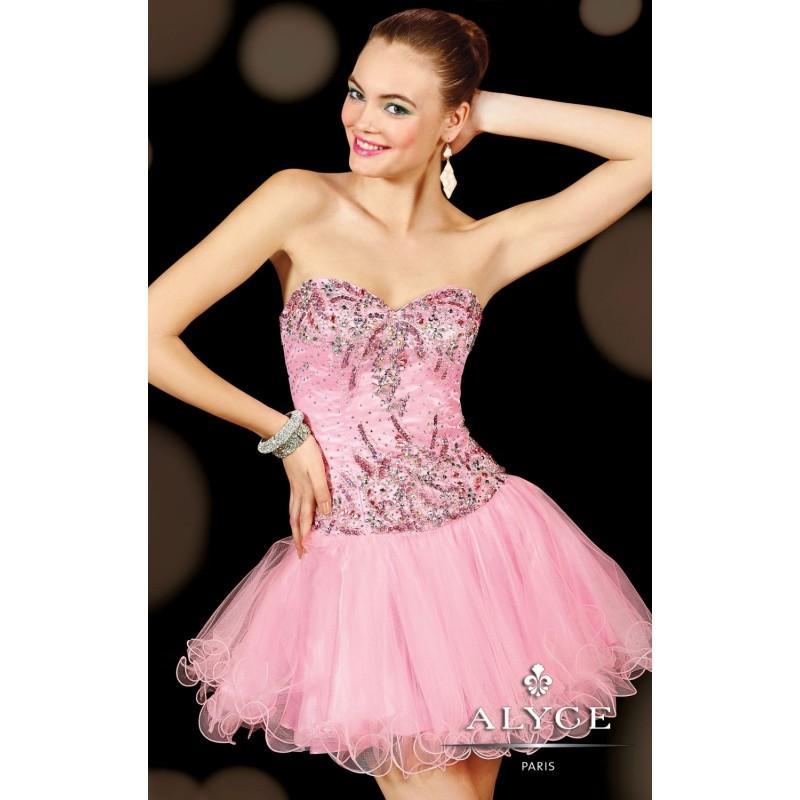Wedding - Embellished Strapless Tulle Dress by Alyce Sweet 16 3596 - Bonny Evening Dresses Online