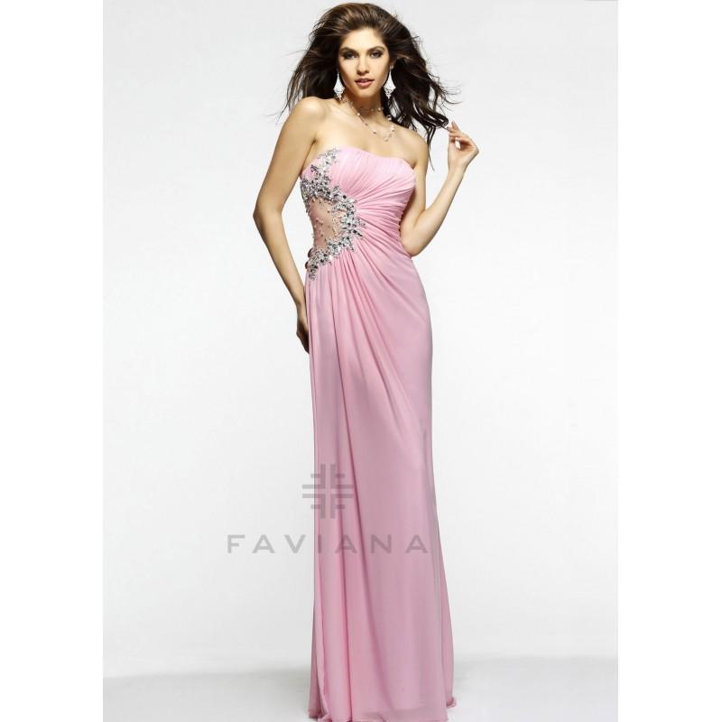Wedding - Faviana 7317 Strapless Mesh Dress Website Special - 2017 Spring Trends Dresses