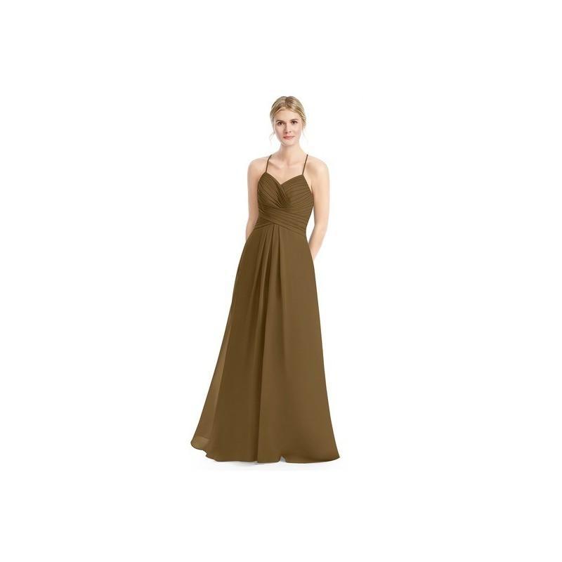 Wedding - Brown Azazie Cecilia - Chiffon Floor Length Sweetheart Back Zip Dress - Cheap Gorgeous Bridesmaids Store