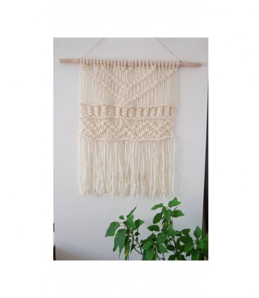 Hochzeit - Macrame Wall Hanging, Woven Wall Hanging, Woven Wall Decor, Wool Wall Hanging, Textile Wall Decor, Wall Hanging Tapestry, Macrame Wall Decor