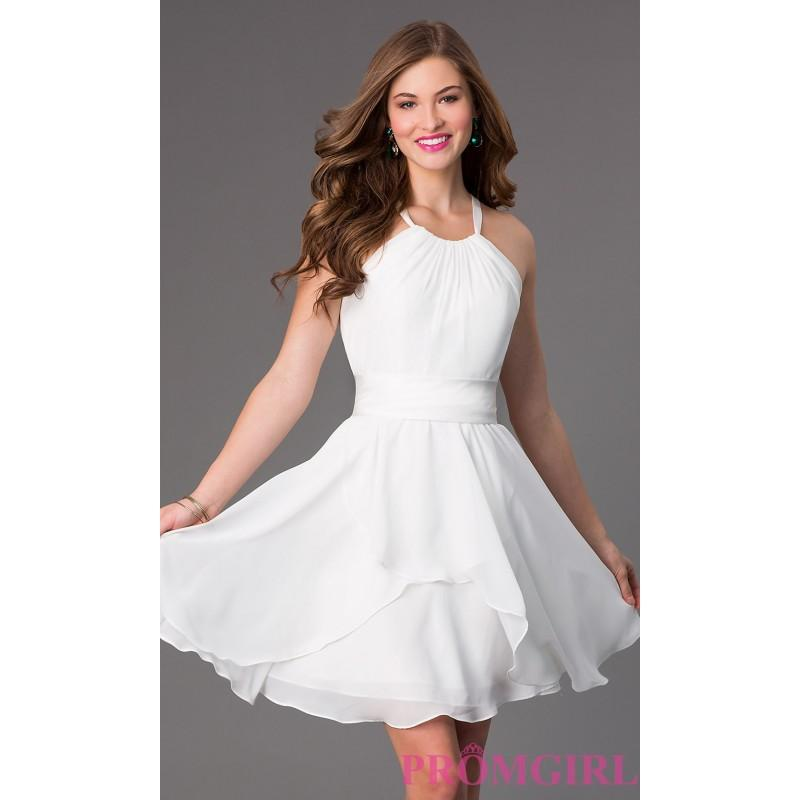 Mariage - Short High Neck Bridesmaid Dress - Brand Prom Dresses