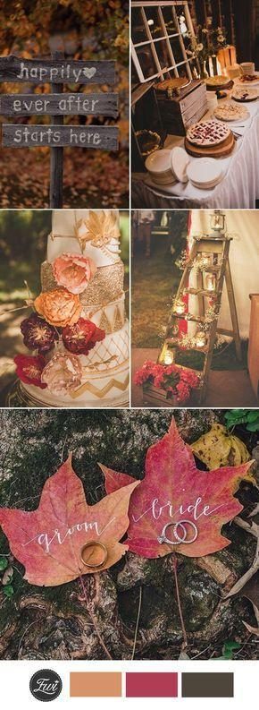 Hochzeit - Top 10 Fall Wedding Color Ideas For 2017 Trends