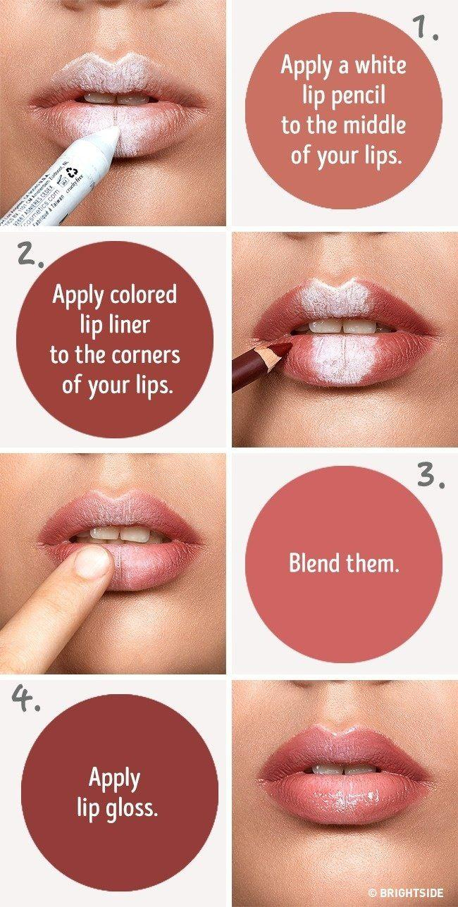 Свадьба - Tutorial for Fuller Looking Lips