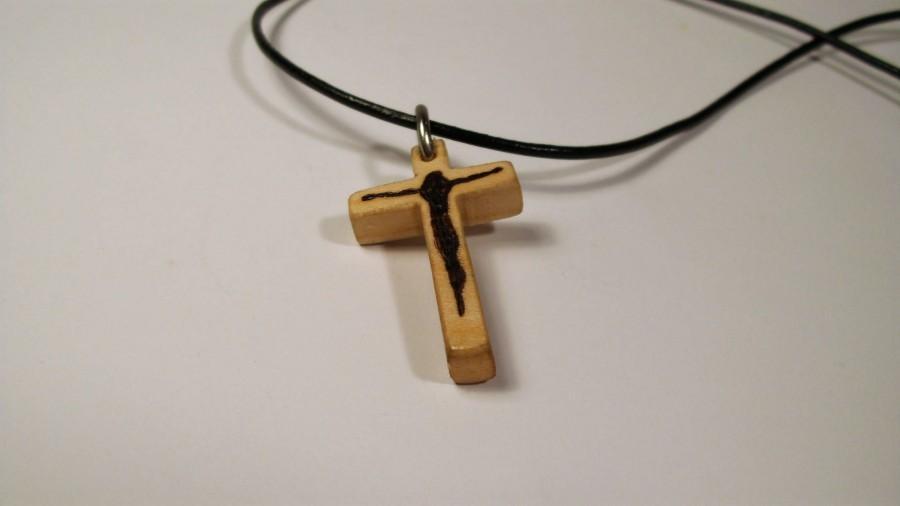 c779d96f649 Wooden Cross Necklace, Cross Pendant, Cristian Cross, Jesus Cross,  Religious Cross, Christian Gift, Handmade Cross, Cross, Jesus, Pyrography