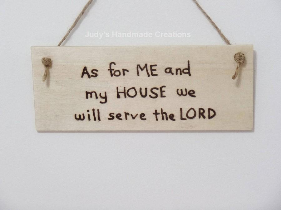 Bible Scripture Wall Sign, Custom Wood Sign ,Bible Verse Wall Art, Joshua  24:15, As For Me And My House, Religious Wall Hanging , Quote ,