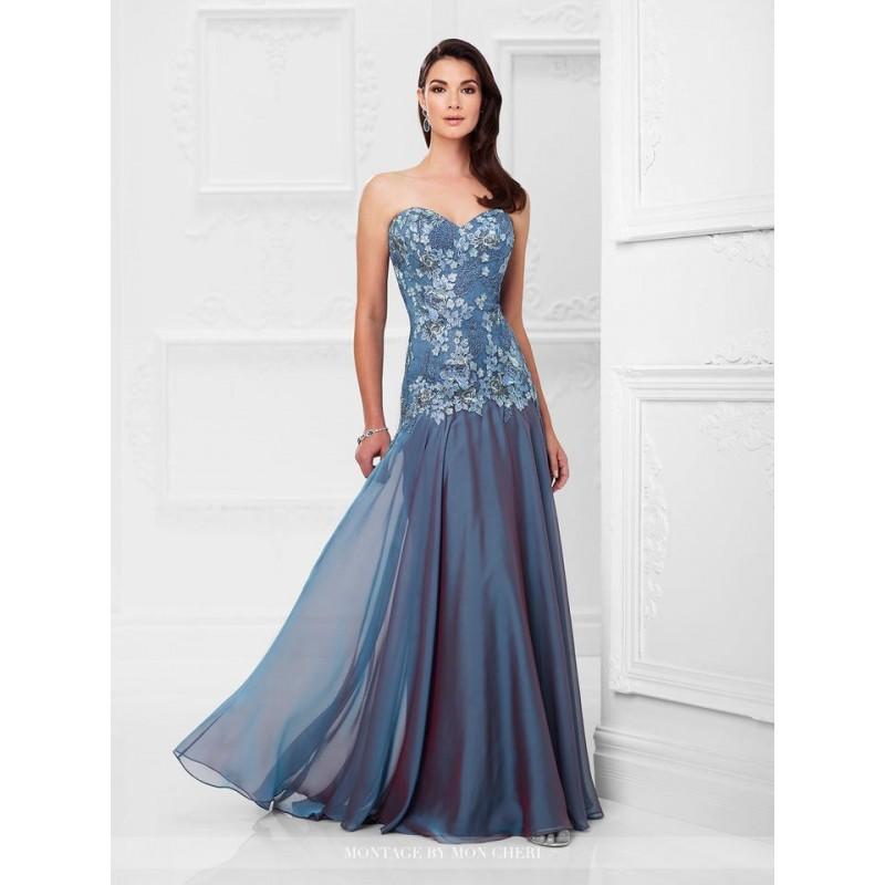 Hochzeit - Montage by Mon Cheri 117902 Wine,Olive,Wedgwood Dress - The Unique Prom Store