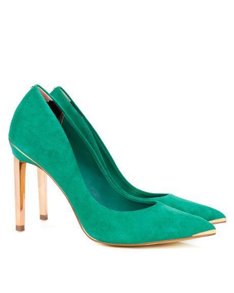 Hochzeit - Metal Pointed Court Shoe - Green