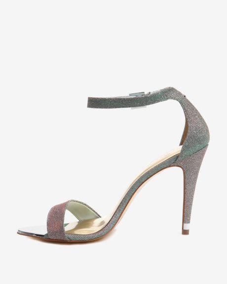 Hochzeit - Shimmer Ankle Strap Sandal - Light Green