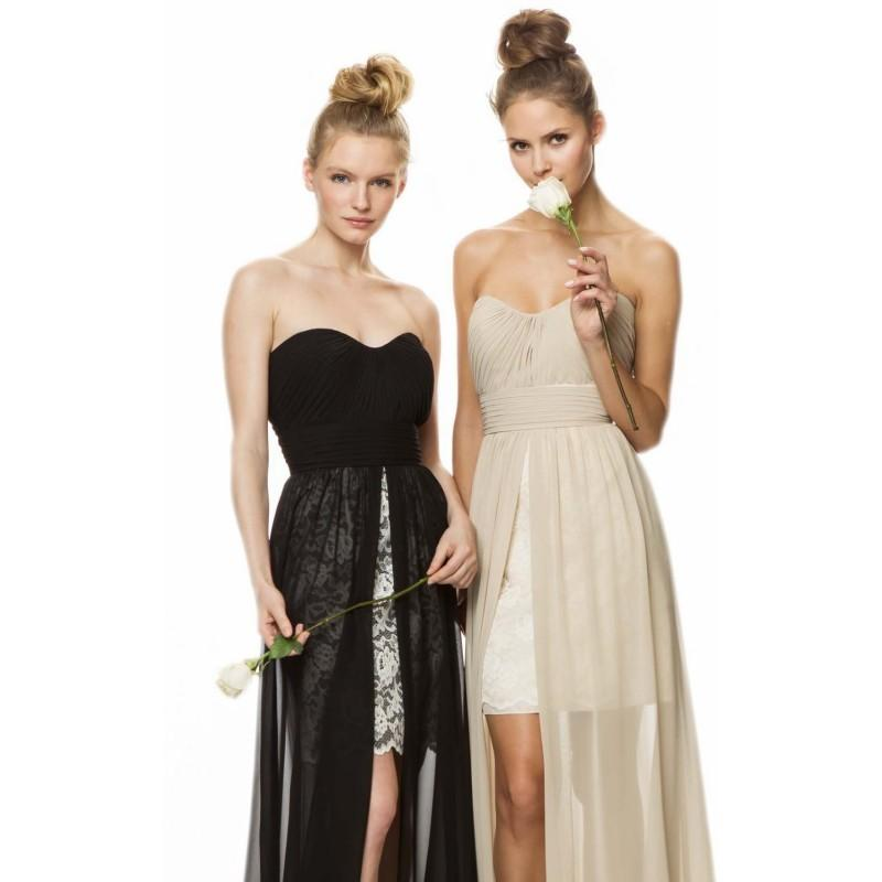 Wedding - Pleated Hi Lo Gown by Bari Jay - Color Your Classy Wardrobe