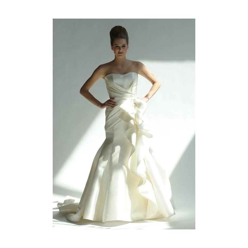 Wedding - Junko Yoshioka - Spring 2013 - Cascade Silk Satin Mermaid Wedding Dress with Ruffle Detail - Stunning Cheap Wedding Dresses