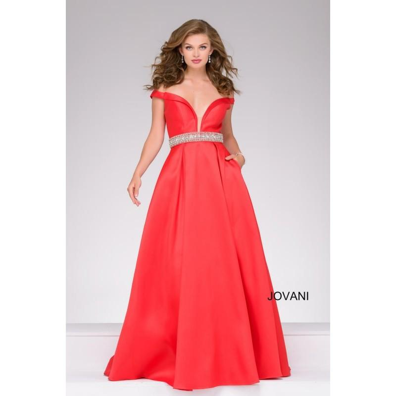 Jovani 45135 Off The Shoulder Ball Gown - Brand Prom Dresses ...
