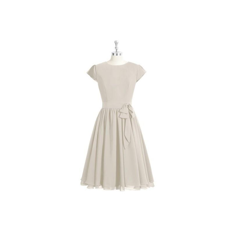 Свадьба - Taupe Azazie Ingrid - Back Zip Knee Length Chiffon Scoop Dress - Cheap Gorgeous Bridesmaids Store