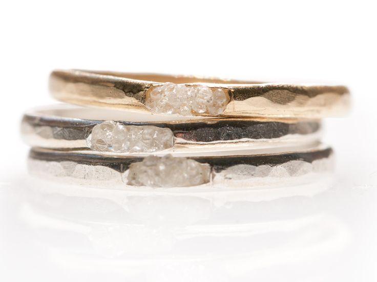 Wedding - Raw Diamond Cluster Ring